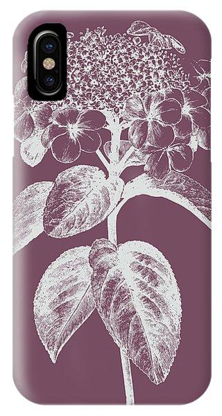 Bouquet iPhone X Case - Viburnum Blush Purple Flower by Naxart Studio