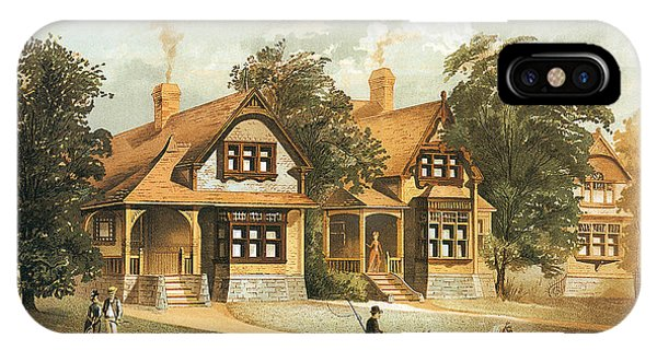 iPhone Case - Victorian Houses 19th Century And Horse Carriage by Zal Latzkovich