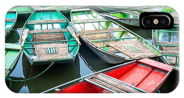 Culture iPhone Case - Vietnamese Boats On The River Early In by Perfect Lazybones