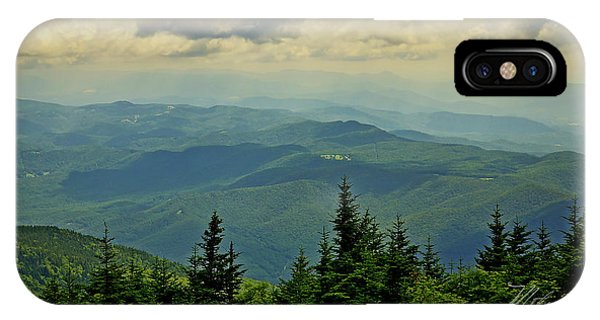 IPhone Case featuring the photograph View From Mount Mitchell by Meta Gatschenberger