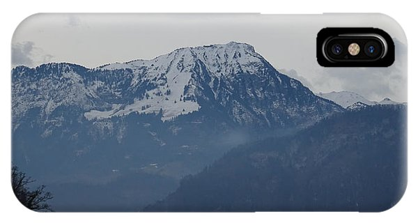 View From My Art Studio - Stanserhorn - March 2018 IPhone Case