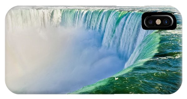 Great Lakes iPhone Case - View From The Edge Of Niagara Falls by Christopher Gardiner