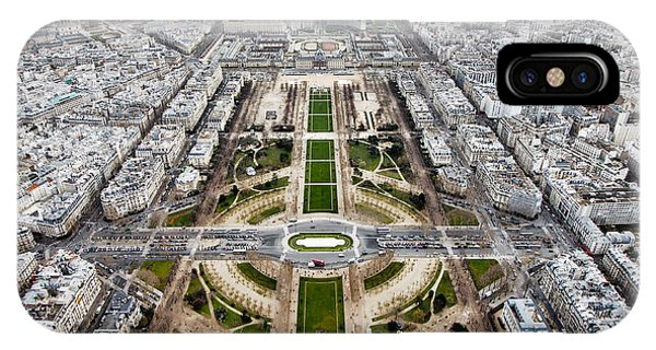 French Landscape iPhone Case - View From The Eiffel Tower, Down The by Steven Bostock
