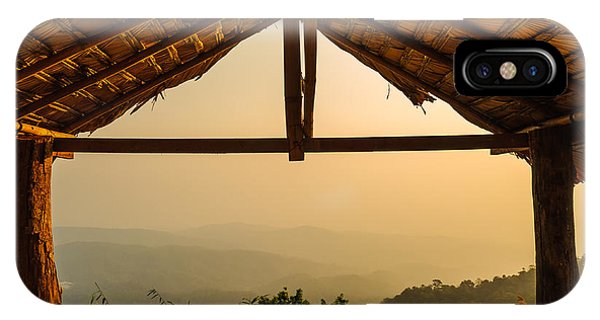 Rock Formation iPhone Case - View From The Hut In Morning by Latthaphon Rodrattanachai