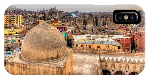 Dome iPhone Case - View Of Cairo From Roof Of Amir by Leonid Andronov
