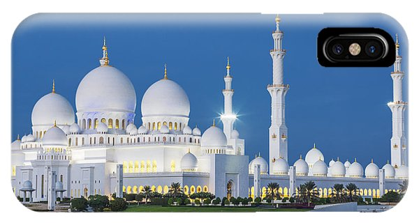 Dome iPhone Case - View Of Famous Abu Dhabi Sheikh Zayed by Prochasson Frederic