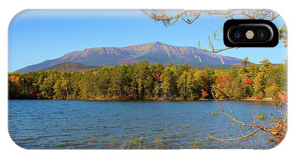 View Of Katahdin In Early Fall IPhone Case