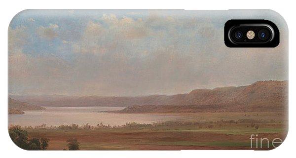 Flooded iPhone Case - View Of Lake Pepin, Minnesota, 1862 by Robert Scott Duncanson