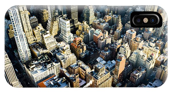 United States iPhone Case - View Of Manhattan From The Empire State by Richard Semik
