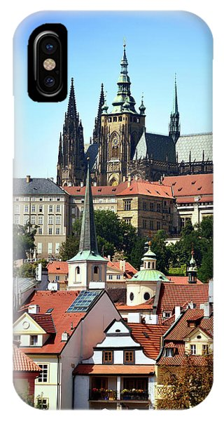iPhone Case - View Of Prague Castle And Rooftops by Kathy Yates