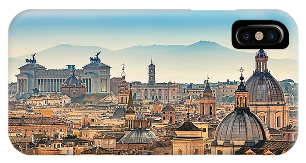 Dome iPhone Case - View Of Rome From Castel Santangelo by S.borisov