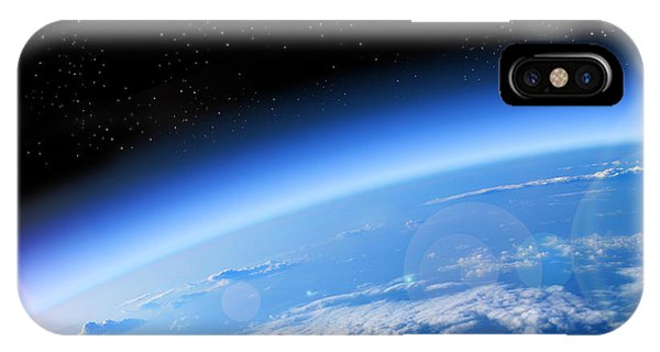 Layer iPhone Case - View Of The Earth From Space, Blue by Studio23