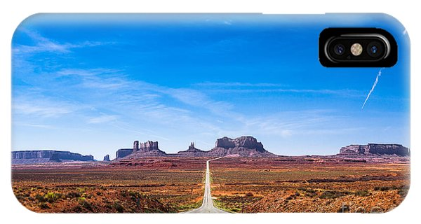 Discovery iPhone Case - View Of The Monument Valley And The by Offfstock