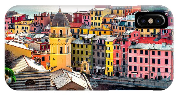 Historic House iPhone Case - View Of Vernazza. Vernazza Is A Town by Alex Tihonovs