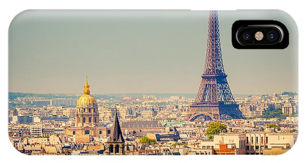 Dome iPhone Case - View On Eiffel Tower, Paris, France by S.borisov