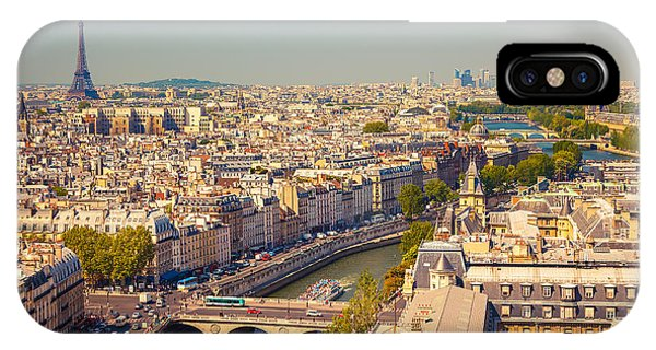 French iPhone Case - View On Paris Form Notre Dame Cathedral by S.borisov