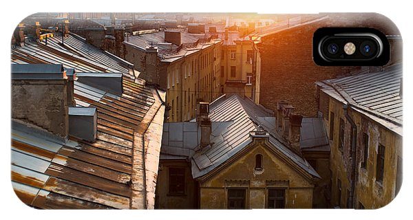 Historic House iPhone Case - View Over The Rooftops Of The Historic by De Visu
