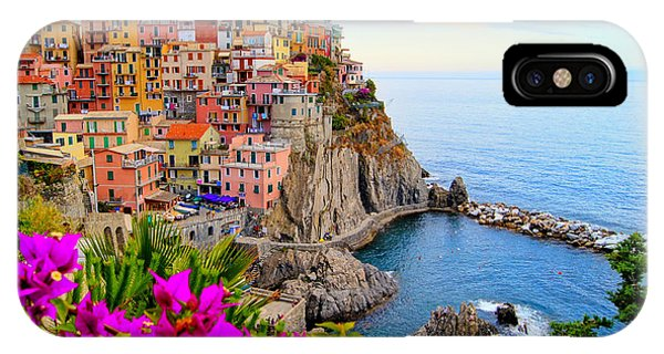 Old Building iPhone Case - Village Of Manarola, On The Cinque by Jenifoto