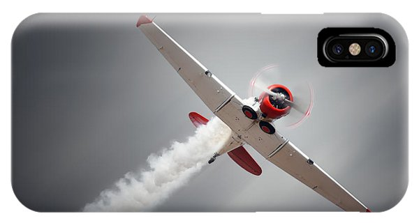 Airplanes iPhone Case - Vintage Airplane At High Speed by Johan Swanepoel