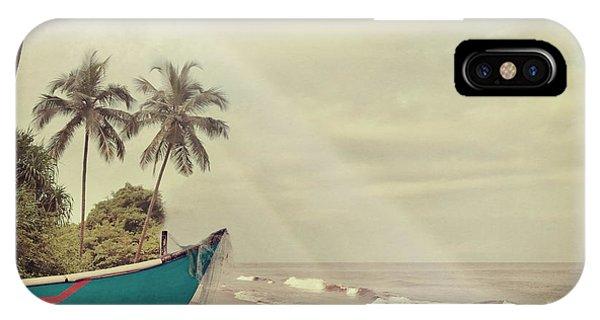 Vintage Beach Background Phone Case by Sundari