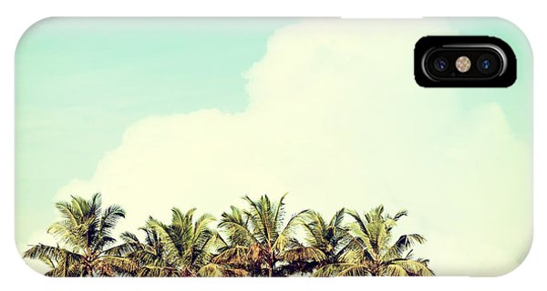Beams iPhone Case - Vintage Beach Palms by Sundari