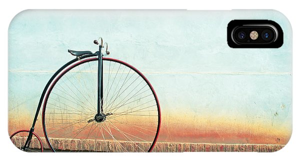 Background iPhone Case - Vintage Bicycle, Penny Farthing,high by Unclepepin