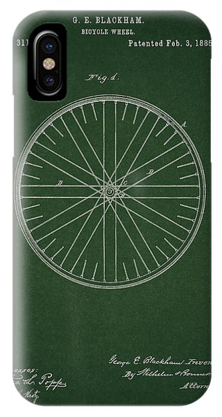 IPhone Case featuring the drawing Vintage Bicycle Tire Patent by Dan Sproul