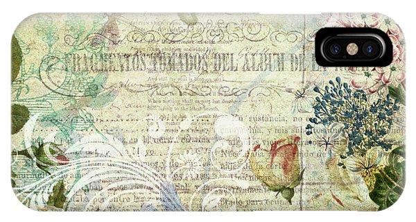 Vintage Botanical Illustration Collage IPhone Case