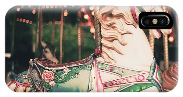 Vintage Carousel Horse Phone Case by Andrekart Photography