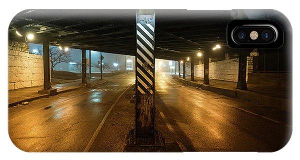 Texture iPhone Case - Vintage Chicago Bridge At Night by Bruno Passigatti