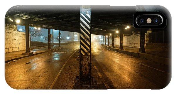 Stone Wall iPhone Case - Vintage Chicago Bridge At Night by Bruno Passigatti