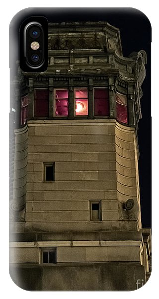 Building iPhone Case - Vintage Chicago Bridge Tower At Night by Bruno Passigatti