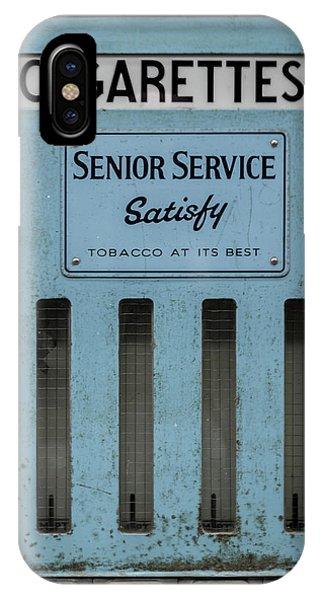 Senior Service Vintage Cigarette Vending Machine IPhone Case