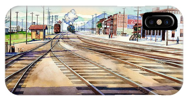 Vintage Color Columbia Rail Yards IPhone Case