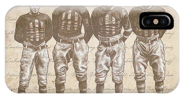 Vintage Football Heroes IPhone Case
