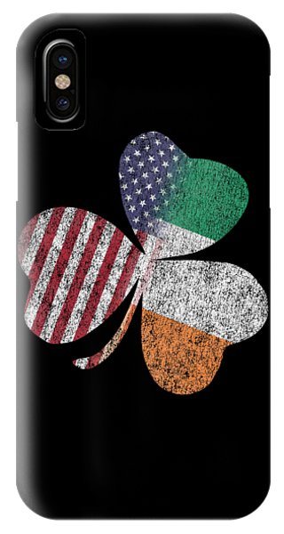 St. Patricks Day iPhone Case - Vintage Irish American St Patricks Day Shamrock  by Flippin Sweet Gear