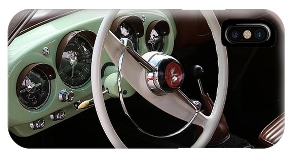 IPhone Case featuring the photograph Vintage Kaiser Darrin Automobile Interior by Debi Dalio