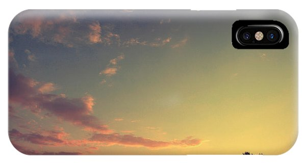 Dusk iPhone Case - Vintage Picture. Sunset With Moon And by Vitalii Bashkatov