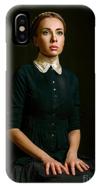 Vintage Portrait Of A Seated Woman Phone Case by Ishimaru