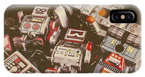 Nostalgia iPhone Case - Vintage Robotronics by Jorgo Photography - Wall Art Gallery
