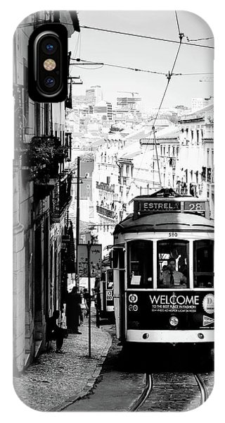 iPhone Case - Vintage Tram In Lisbon Portugal 2 by Kathy Yates