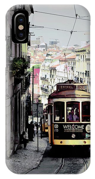 iPhone Case - Vintage Tram In Lisbon Portugal by Kathy Yates