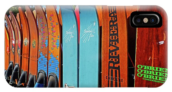 Water Ski iPhone Case - Vintage Water Skis by Sharon Williams Eng
