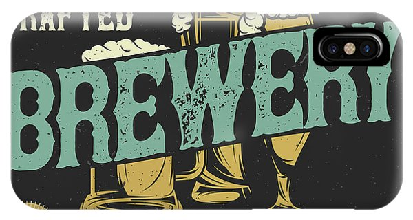 Simple iPhone Case - Vintage Western Label Font Named Brewery. Good Typeface For Any  by Marilu Windvand