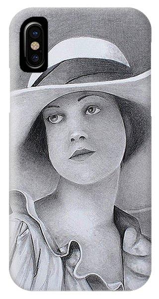 Vintage Woman In Brim Hat IPhone Case