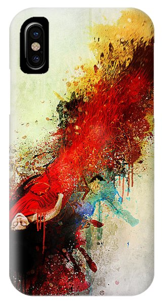 Explosion iPhone X Case - Violently Happy by Mario Sanchez Nevado