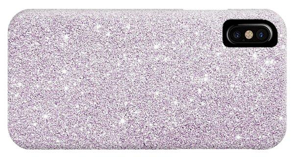Violet Glitter IPhone Case