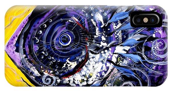 Violet Tri Fish IPhone Case