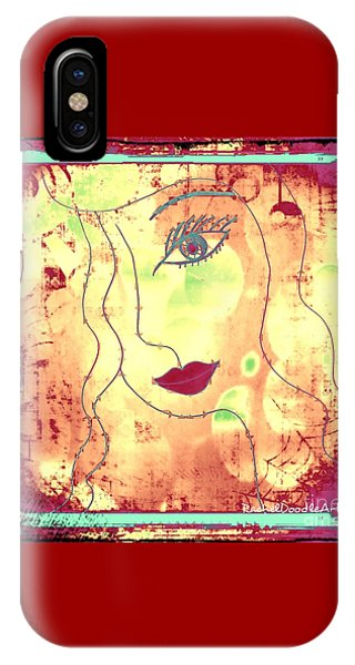 IPhone Case featuring the mixed media Visage De Lumiere by Rachel Maynard