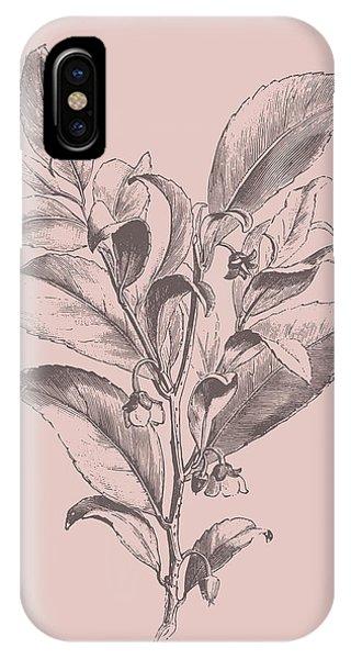 Bouquet iPhone X Case - Visnea Mocanera Blush Pink Flower by Naxart Studio